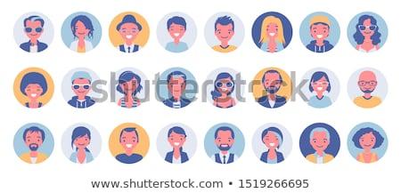Cartoon парень Аватара фотография человека Сток-фото © vector1st