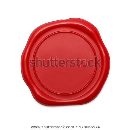 Red wax seal isolated on white background Stock photo © kayros