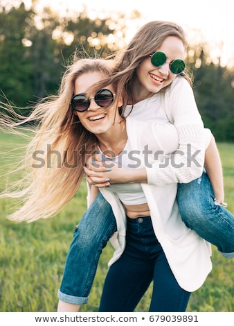 dia · amizade · riso · retrato · risonho - foto stock © vlad_star