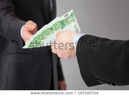 Woman offering money loan in euro currency banknotes Stock photo © stevanovicigor