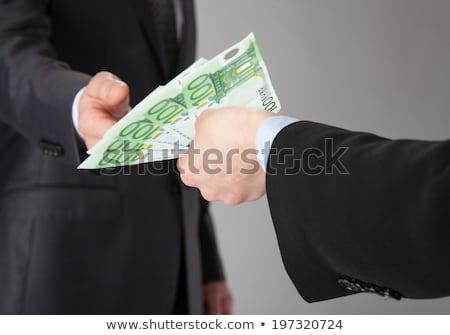 Nő felajánlás pénz kölcsön Euro valuta Stock fotó © stevanovicigor