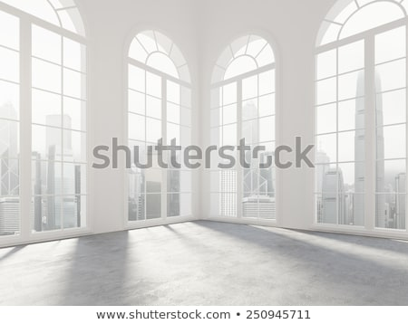 Iç galeri pencereler boş oda arka plan oda Stok fotoğraf © SArts