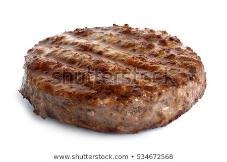 Hamburger twee ruw peterselie witte vlees Stockfoto © Digifoodstock