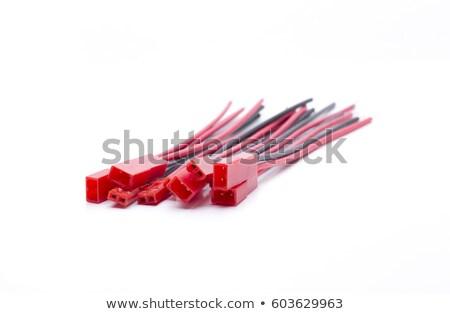 mini · tipo · bateria · carro · vermelho - foto stock © jarp17