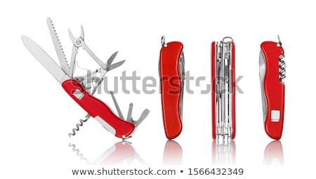 szerszám · izolált · fehér · kés · acél · konzerv - stock fotó © shutter5