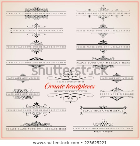 Foto stock: Large Collection Of Ornate Headpieces - Vector Set