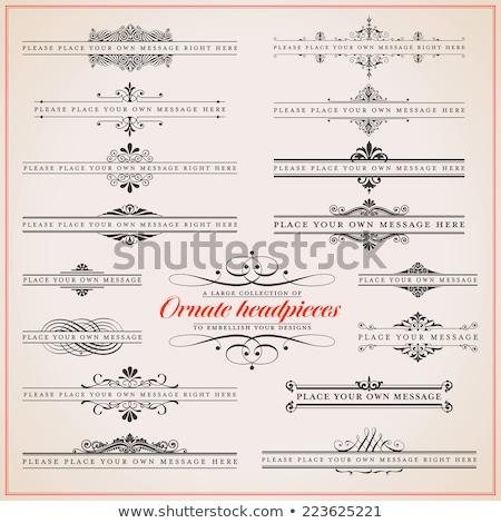 grande · colección · Navidad · diseno · elementos · adornos - foto stock © blue-pen
