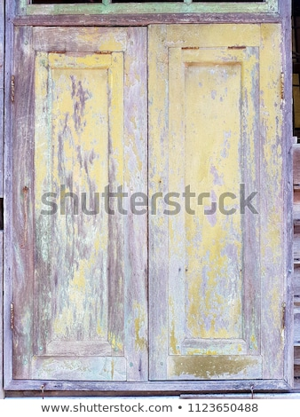 Background and texture of weathered ywllow wooden planks Stock photo © stevanovicigor