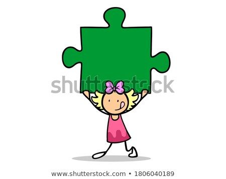 self confidence on green puzzle stock photo © tashatuvango