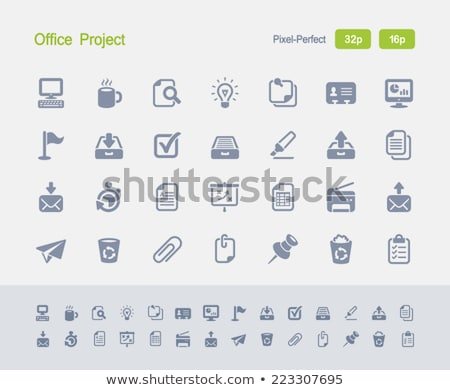 Office Project - Granite Icons stock photo © micromaniac