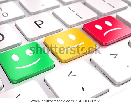 Rouge réaction bouton clavier 3D Photo stock © tashatuvango