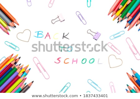 Various school supplies arranged on white background Stock photo © wavebreak_media