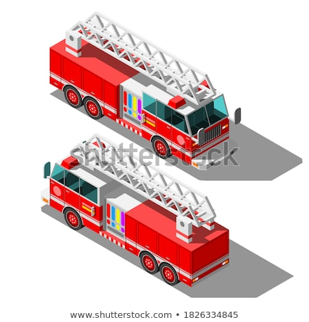 Isometric fire truck Stock photo © Genestro