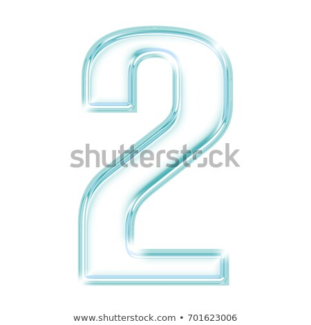 Ice font number 2 TWO 3D Stock photo © djmilic