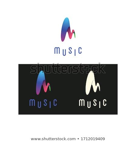 Merk doodle ontwerp iconen opschrift donkere Stockfoto © tashatuvango