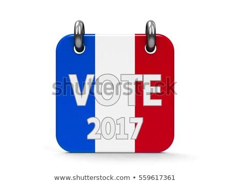 Votar eleição ícone calendário francês bandeira Foto stock © Oakozhan