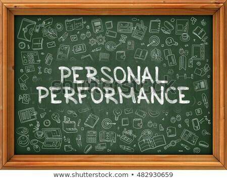 Dessinés à la main personnelles performances vert tableau doodle Photo stock © tashatuvango
