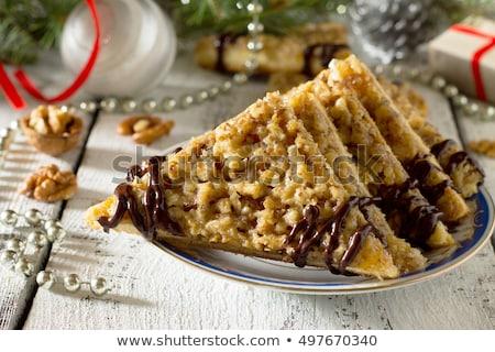 üçgen somun gıda tatlı kurabiye kimse Stok fotoğraf © Digifoodstock