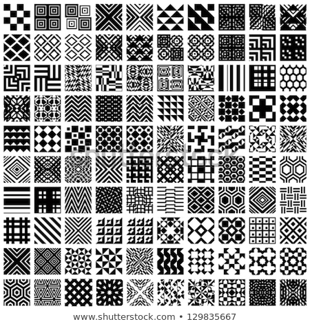 Set checkered seamless diagonal background Stock photo © orensila