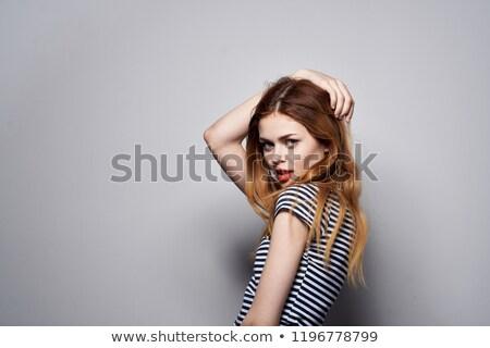 若い女性 · 赤 · ランジェリー · 背面図 · 少女 - ストックフォト © artjazz
