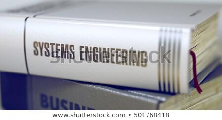 Libro título ingeniería 3D espina Foto stock © tashatuvango
