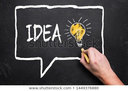 Kézzel rajzolt üzlet intelligencia iroda tábla zöld Stock fotó © tashatuvango