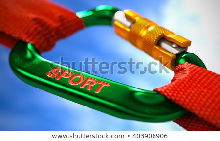 Sportu zielone czerwony liny niebo selektywne focus Zdjęcia stock © tashatuvango