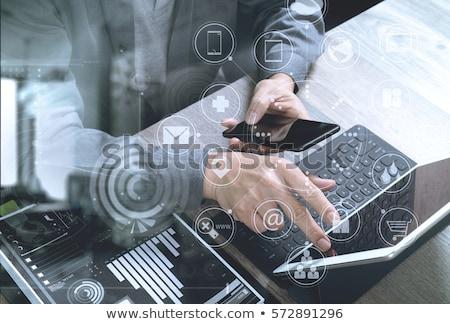 banking services   modern keyboard concept stock photo © tashatuvango