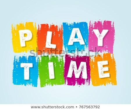 Playtime In Motley Drawn Banner Stockfoto © marinini