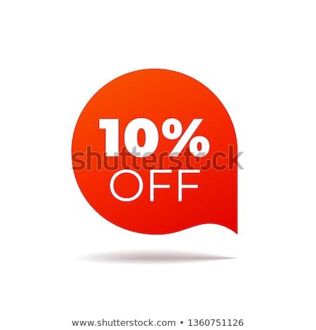 Rood 10 korting teken geïsoleerd witte Stockfoto © lenapix