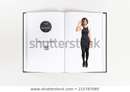 happy business woman presenting and making the ok sign Stock photo © feedough