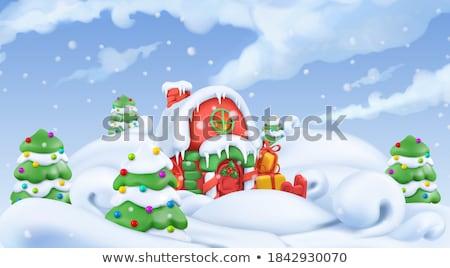 Vector plasticine illustration of Christmas Tree Stock photo © Sonya_illustrations