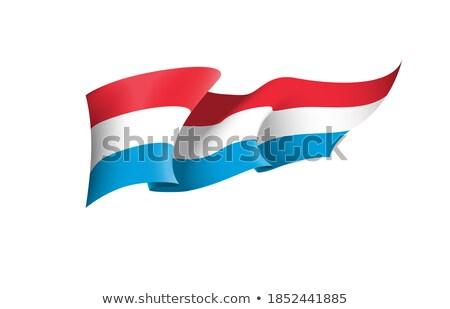 Luxemburg vlag lint geïsoleerd symbool tik Stockfoto © popaukropa