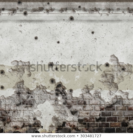 red wall with bullets holes Stock photo © romvo