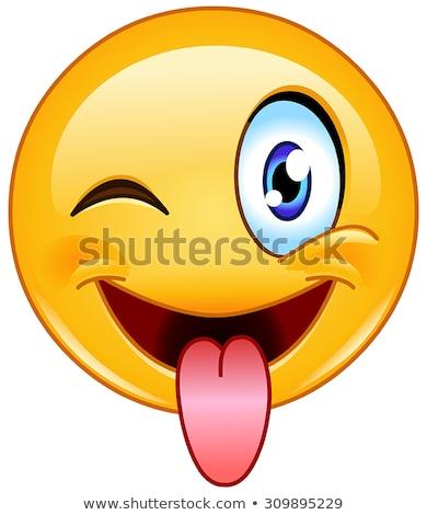 смешные желтый Cartoon лице характер Сток-фото © hittoon