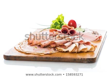 пластин приготовленный мяса сыра Сток-фото © IS2