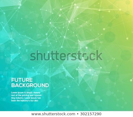 Abstract verde colore scienza connessione linee Foto d'archivio © designleo