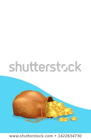 сокровище плакат старые мешок полный Сток-фото © robuart