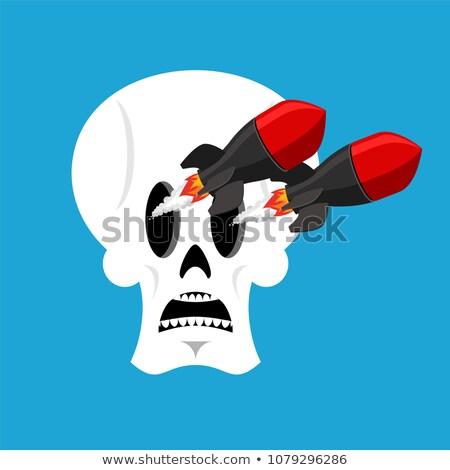 Kafatası füze kafa iskelet askeri yangın Stok fotoğraf © popaukropa