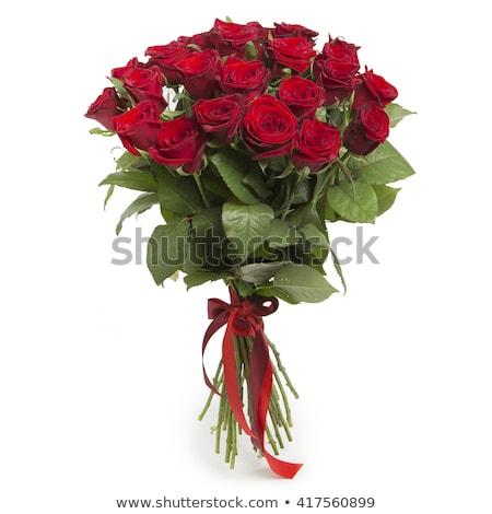 virágcsokor · rózsák · lövés · gyönyörű · vörös · rózsák · izolált - stock fotó © wdnetstudio