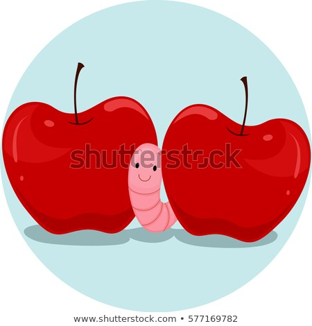 Preposition Apple Worm Between Stock photo © lenm