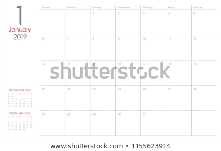 2019 January Printable Calendar Template Stock photo © ivaleksa