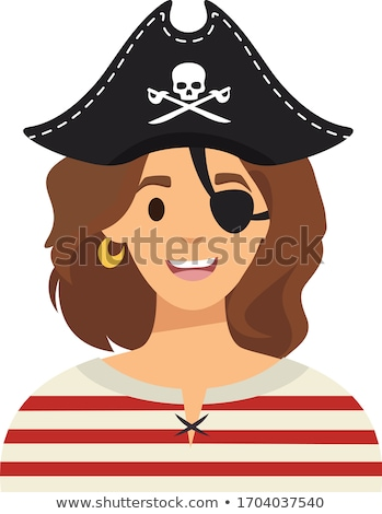 Cartoon Angry Pirate Woman Stock photo © cthoman
