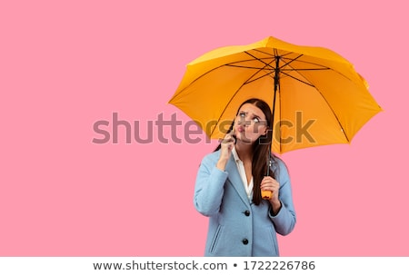 девушки зонтик дождливый день характер Сток-фото © Margolana