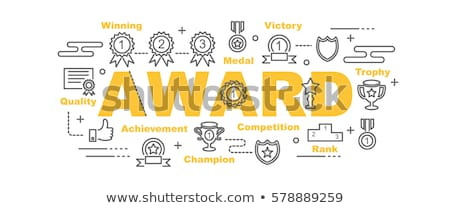 Victory concept - set of flat design style icons Stock photo © Decorwithme