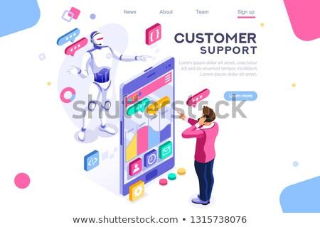 sociale · mensen · communicatie · procede · vector · business - stockfoto © robuart
