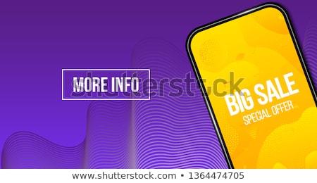 establecer · banner · bocadillo · anunciante · etiqueta · geométrico - foto stock © cammep