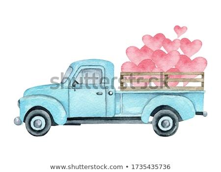 Surprised Cartoon Pickup Truck Stock photo © cthoman
