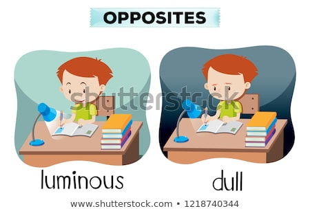Opposites luminous and dull Stock photo © bluering
