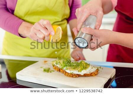 sandwich · preparazione · lungo · isolato · bianco · un · altro - foto d'archivio © kzenon